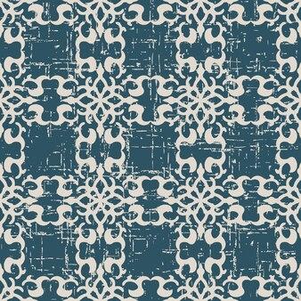 나선형 크레스트와 골동품 원활한 패턴을 착용