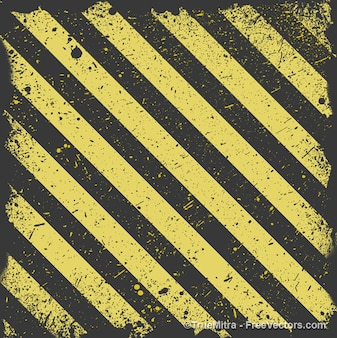Worn striped yellow and black background