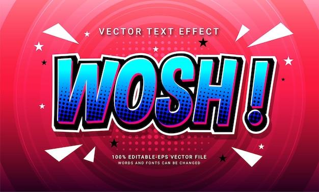 Wosh комикс редактируемый текстовый стиль эффект тематический минималистский мультяшный стиль