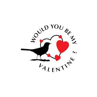 Would you be my valentine birds stylish