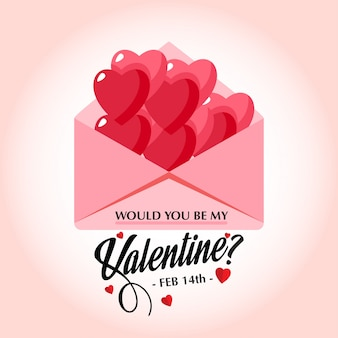 Would you be my valentine's stylish vector card