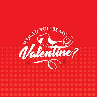 Would you be my valentine with red hearts pattern