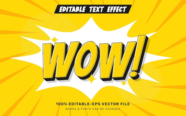 Wow comic text effect