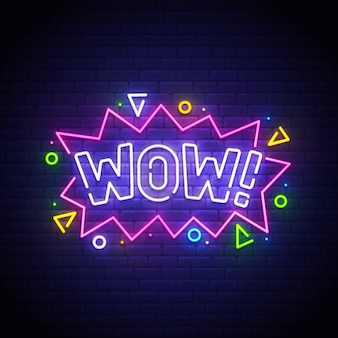 Wow neon sign