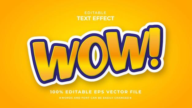 Вау красивый редактируемый текстовый эффект