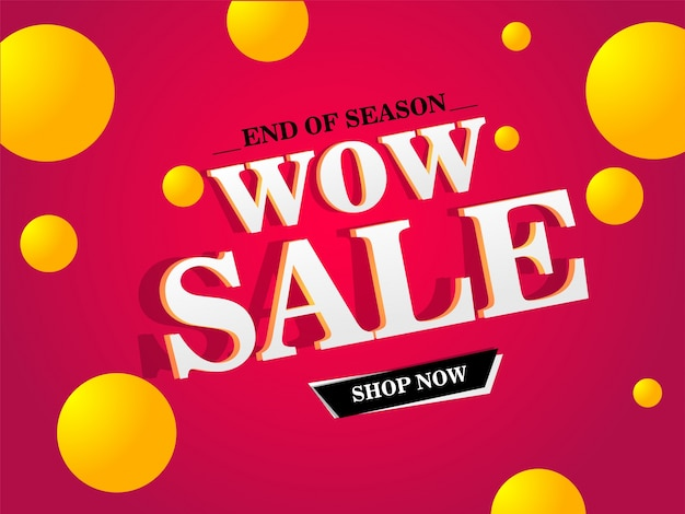 Wow sale banner, sale poster