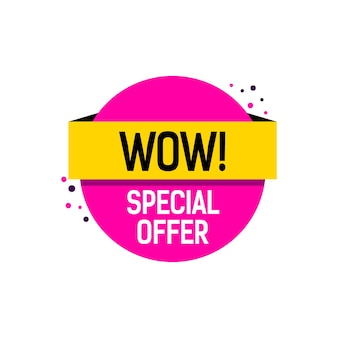 Wow special offer lettering