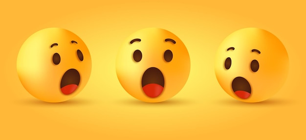 Wow surprised emoji face for social media reactions