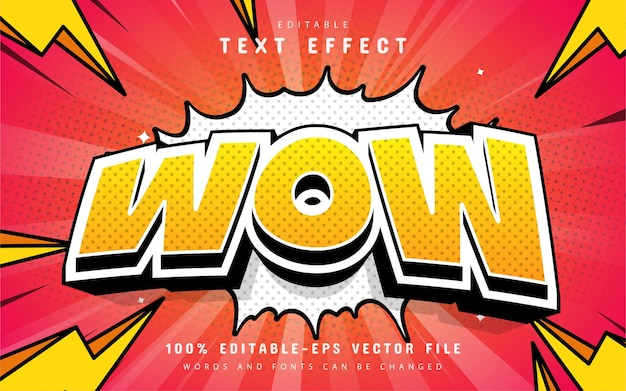 Wow text effect comic style