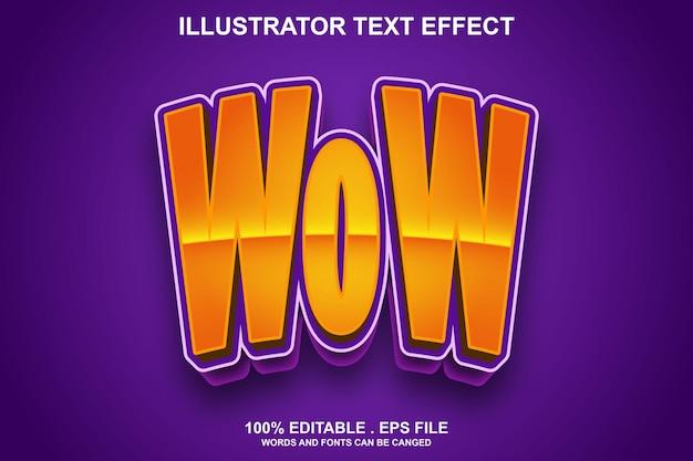 Вау текстовый эффект редактируемый