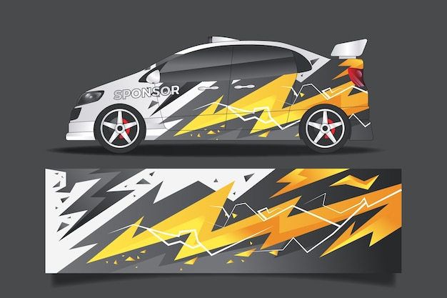 Wrap design sports car