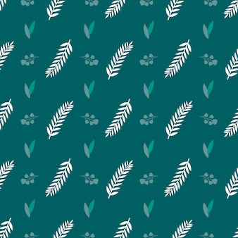 Wrapping green leave seamless pattern background