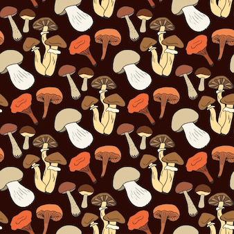 Wrapping paper with different mushroom