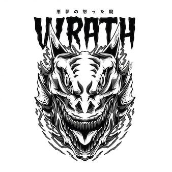 Wrath monster black n white