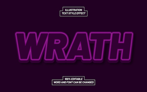 Wrath text style effect