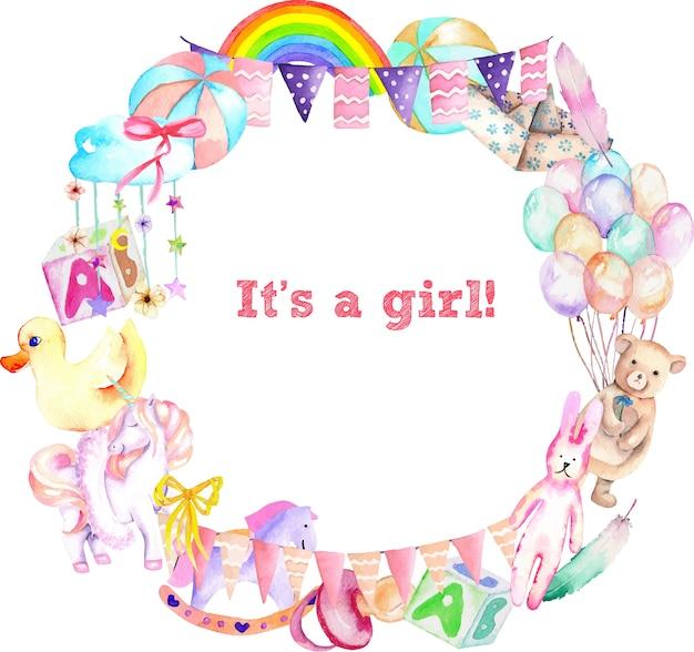 Wreath for baby girl shower