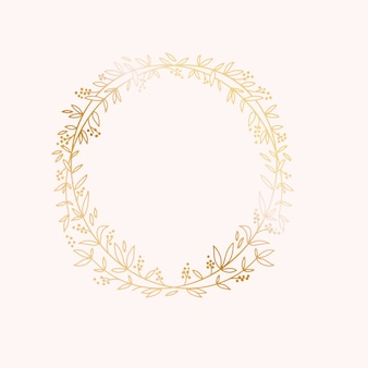 Wreath border frame. wedding marriage event invitation card template.