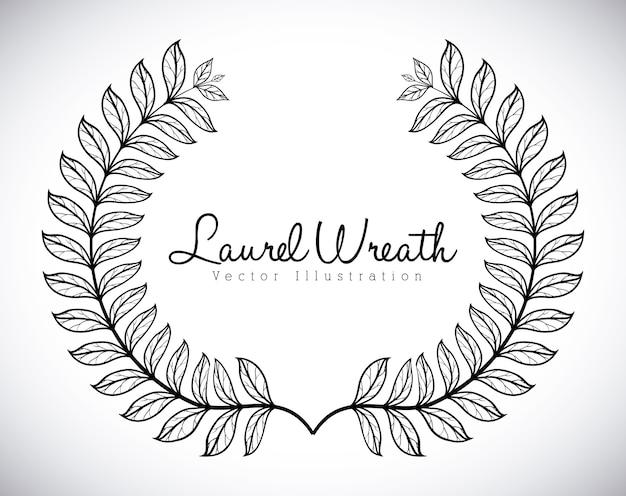 Wreath design over gray background vector illustration