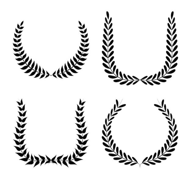 白い背景のベクトルイラスト以上の花輪のデザイン