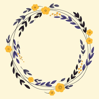 Wreath design with flowers