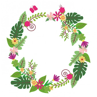 Wreath flowers isolated