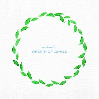 Corona di foglie verdi di progettazione