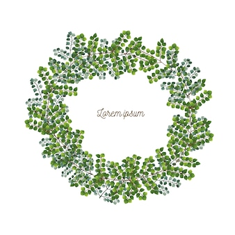 Wreath of leaves.