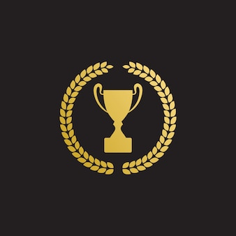 Wreath and trophy vector design template