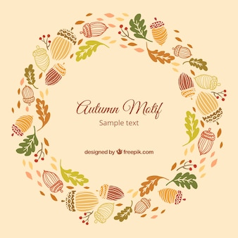 Wreath with autumn motif