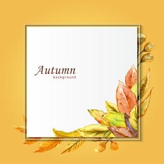 Wreath with autumn theme vector