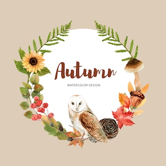 Wreath with autumn theme