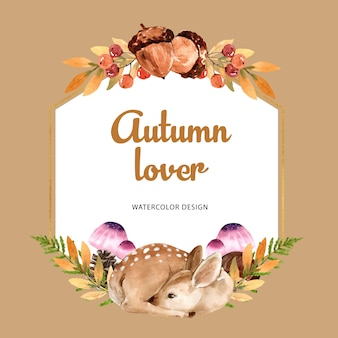 Wreath with autumn theme