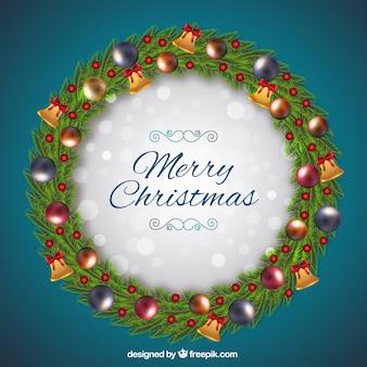 Венок с шарами и рождественские колокола