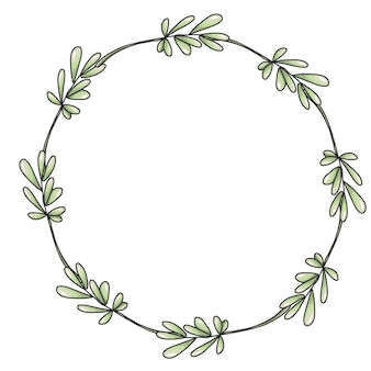 Wreath with green branches