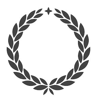 별이 있는 화환. 로렐 상 로마 영광 엠블럼