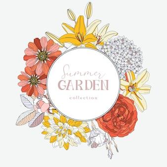 Венок с летними цветами