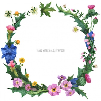 Wreaths from wild plants of scotland