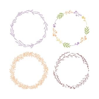 分離された植物の花輪