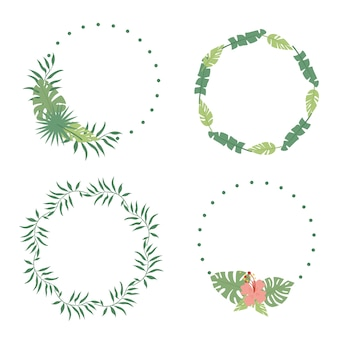Wreaths of palm leaves