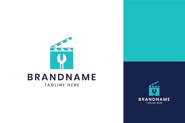 Wrench movie negative space logo design