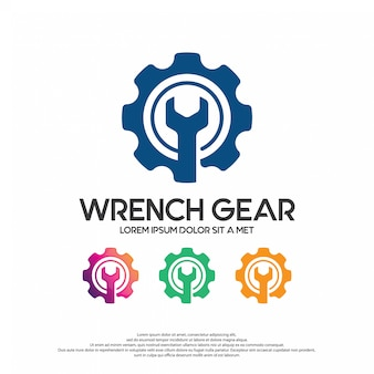 Wrench with gear
