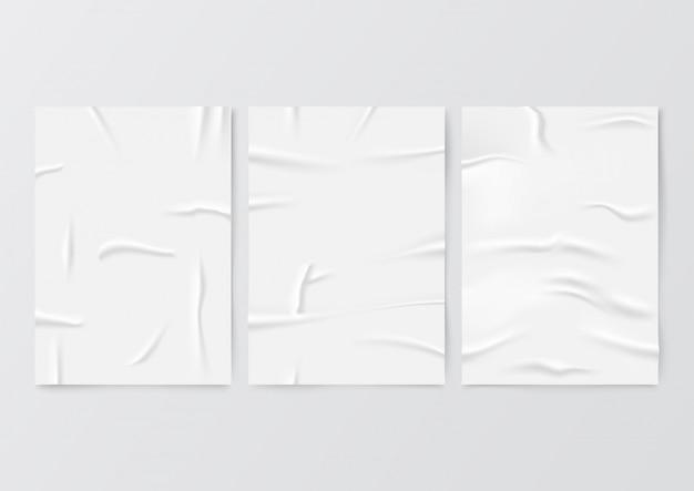 Сморщенный чистый лист бумаги