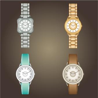 Wristwatch set illustration