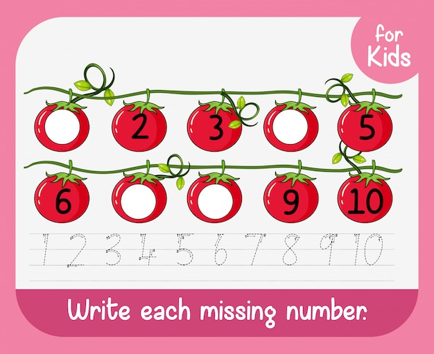 Write each missing number
