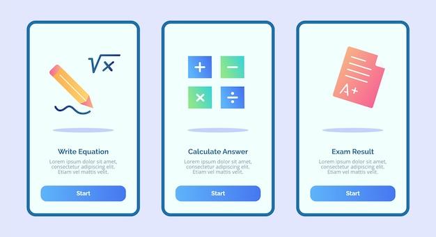 Write equation calculate answer exam result