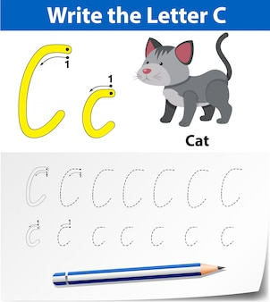 Write the letter c english card