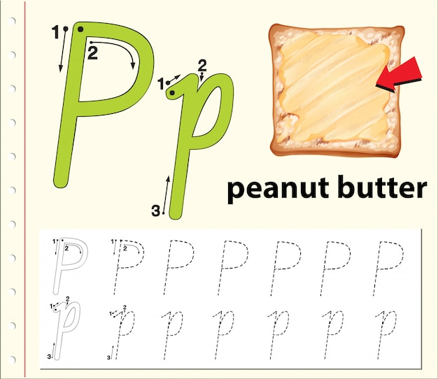 Write the letter p english card