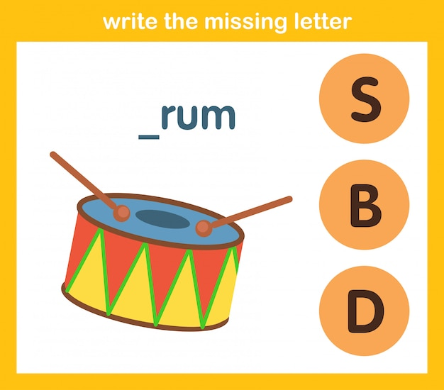 Write the missing letter