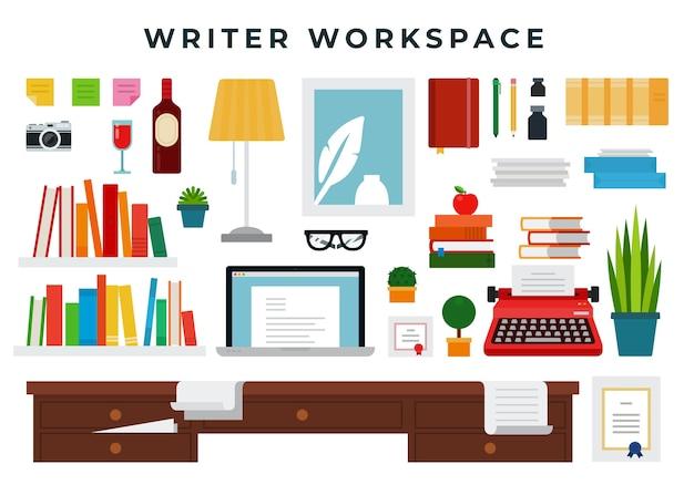 Writer cabinet interior details