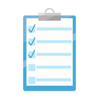 ライターノートアイコン。ノートイラスト。リストまたは計画アイコンの概念を実行します。フラットベクトルイラスト。